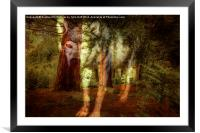 Spirit of The Timber Wolf, Framed Mounted Print