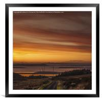 Clydeport Terminal from Fairlie Moor, Framed Mounted Print