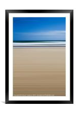 Abstract Beach, Framed Mounted Print