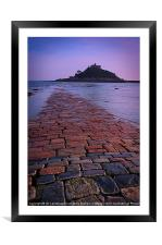 St Michaels Mount, Cornwall, Framed Mounted Print