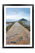 St Michael's Mount, Cornwall, Framed Mounted Print