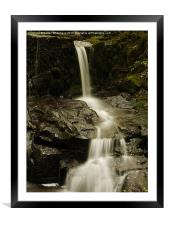 Waterfall in Spring 12, Framed Mounted Print