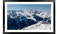 Courchevel from La Plagne, Framed Mounted Print