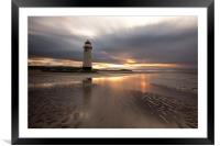 Talacre lighthouse, Framed Mounted Print