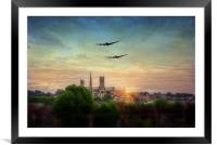 Lancaster Flyby Lincoln Cathedral, Framed Mounted Print
