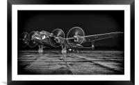 Lancaster Night Run, Framed Mounted Print