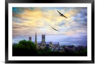 Lincoln Cathederal Flyby, Framed Mounted Print
