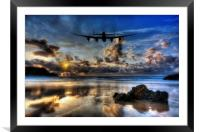 Lancaster Silouette , Framed Mounted Print