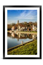 River Bure Reflection, Coltishall, Framed Mounted Print