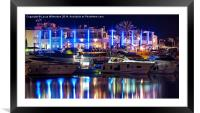 The Yacht Club, Framed Mounted Print