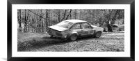 Classic Rally Car Escort Mark 2, Framed Mounted Print