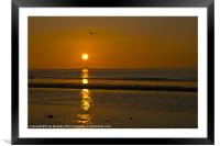 Formby Beach Sunset, Framed Mounted Print