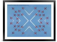 Red Arrows 4-way mirror, Framed Mounted Print