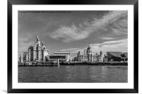 Liverpool waterfront, Framed Mounted Print
