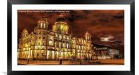 Port Of Liverpool Building At Night, Framed Mounted Print