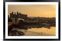 Conwy Castle and harbour, Framed Mounted Print