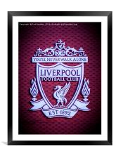 Liverpool Main Stand Crest, Framed Mounted Print