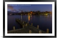 Windermere at night, Framed Mounted Print