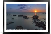 Smokey water after sunset, Framed Mounted Print