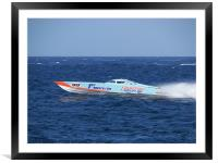 Offshore Powerboat Racing, Framed Mounted Print