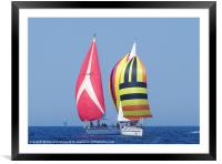 Spinnakers at close quarters, Framed Mounted Print
