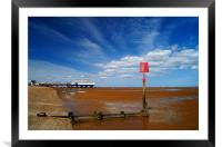 Cleethorpes Pier & Beach at Low Tide, Framed Mounted Print