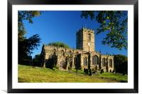 St Marys Church,Ecclesfield,Sheffield, Framed Mounted Print