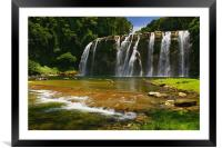 Tinuy-an Falls, Mindanao, Philippines, Framed Mounted Print