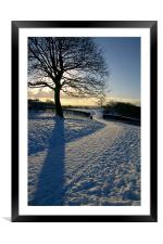 Footpath Through The Snow, Framed Mounted Print