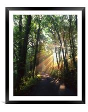 Light Rays through Castleton Lane,Peak District, Framed Mounted Print