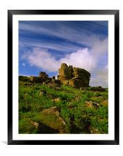 Hound Tor, Dartmoor, Framed Mounted Print