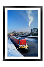 Sheffield Canal at Victoria Quays, Framed Mounted Print