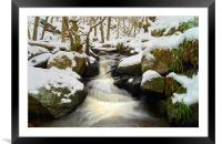Winter In Padley Gorge, Framed Mounted Print
