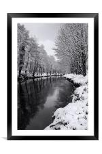 River Don Reflections, Framed Mounted Print