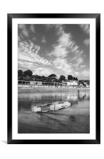 Lyme Regis Seafront & Lifeguard Raft, Framed Mounted Print