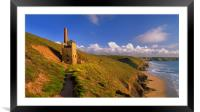 Wheal Coates & North Cornwall Coastline, Framed Mounted Print