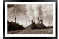 Drax Power Station, Framed Mounted Print