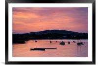 Swanage Sunset, Framed Mounted Print