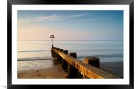 High Tide Marker & Groynes, Swanage Bay, Framed Mounted Print