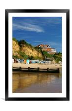 Grand Hotel & Beach Swanage, Framed Mounted Print