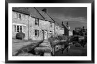 Swanage Mill Pond & Cottages, Framed Mounted Print