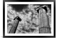 Amphitheatre Columns,Swanage, Framed Mounted Print