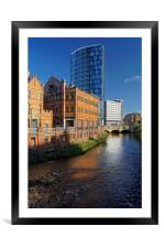 River Don From Ladys Bridge, Sheffield, Framed Mounted Print