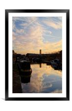 Victoria Quays Sunset, Framed Mounted Print
