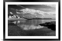 Lyme Regis in Mono, Framed Mounted Print