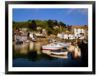 Polperro Harbour, Framed Mounted Print