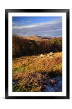 Longshaw View across Burbage Valley 2, Framed Mounted Print