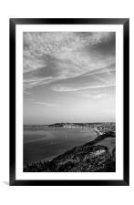Swanage View in Mono, Framed Mounted Print