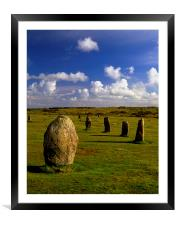 The Hurlers, Framed Mounted Print