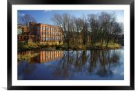 River Don at Kelham Weir, Framed Mounted Print